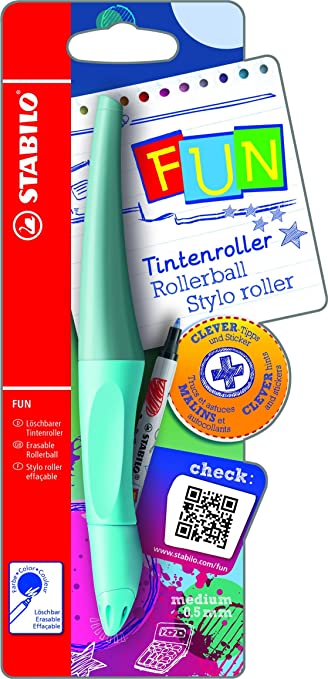 Ergonomischer Tintenroller - STABILO FUN in babyblau/eisblau ...