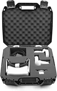CASEMATIX Hard Case Compatible with Oculus Quest 2 and Oculus Quest VR Gaming Headset & Accessories - Oculus Quest Case Storage with Customizable Foam Also fits Elite Strap and Other Accessories
