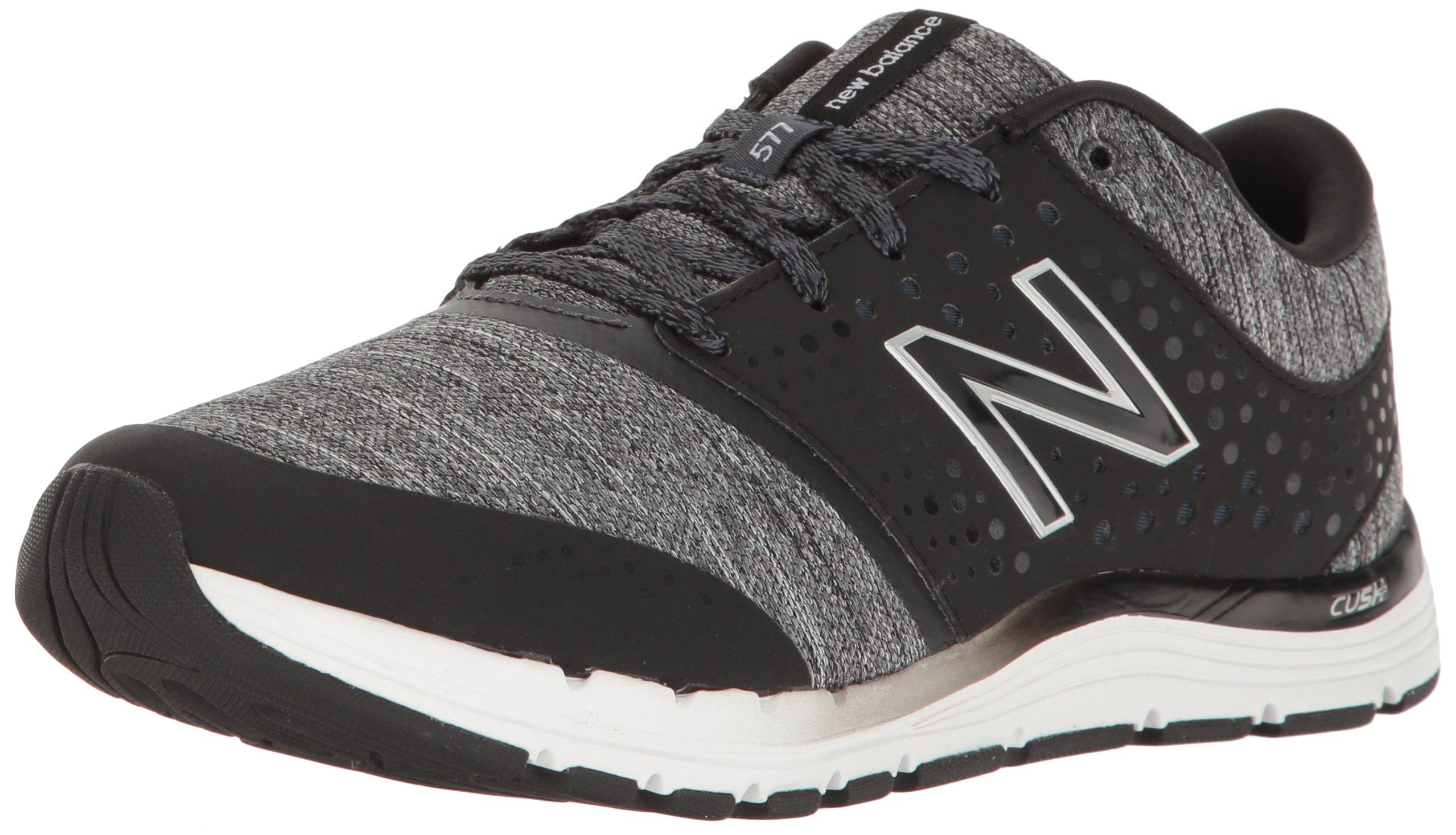 New Balance Women's WX577V4 CUSH + Training Shoe,Black/Heather, 7.5 B US by New Balance