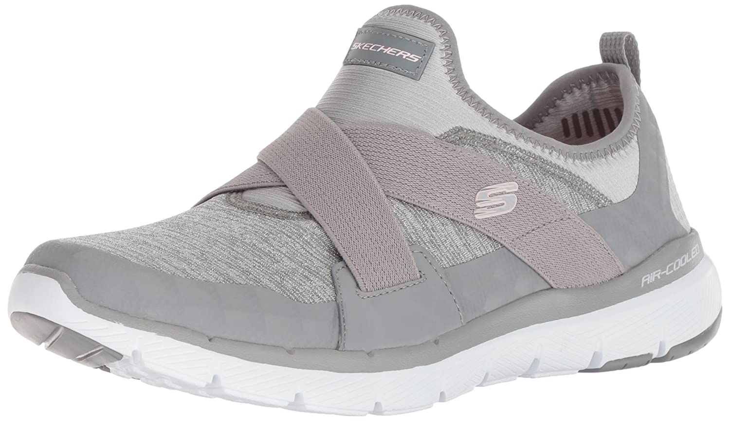 Skechers Women's Flex Appeal 3.0-Finest Hour Sneaker B07B16BPF3 11 M US|Grey