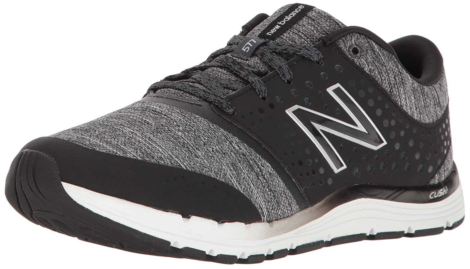 New Balance Women's WX577V4 CUSH + Training Shoe B01FSIO53G 11 D US|Black/Heather
