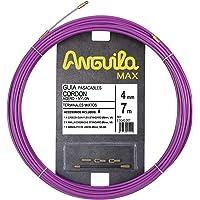 Anguila 65040007 Guía pasacables cordón Acero+Nylon, Lila, 7 Metros