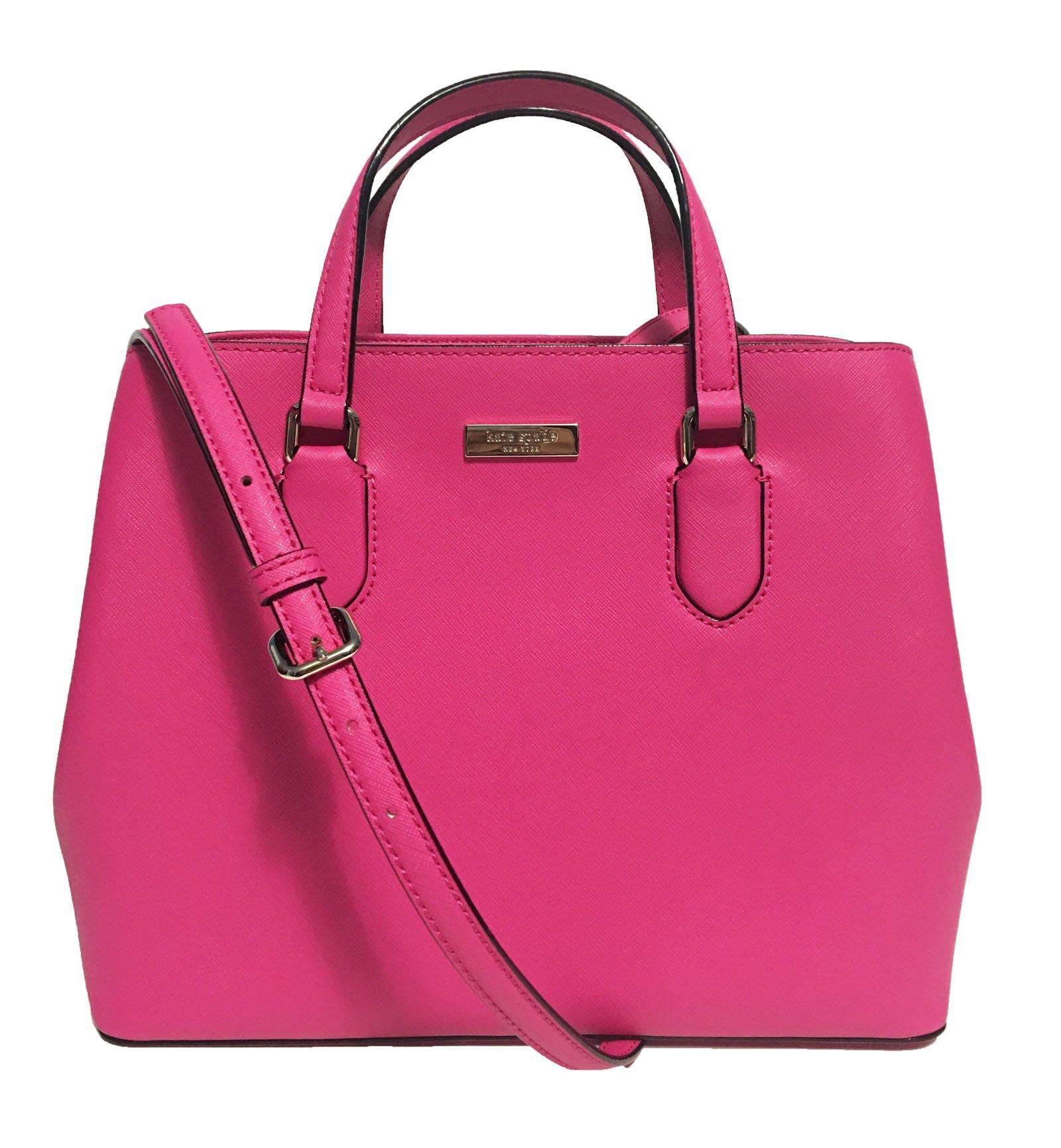 Kate Spade New York Laurel Way Evangelie Saffiano Leather Shoulder Bag Satchel (Radish)