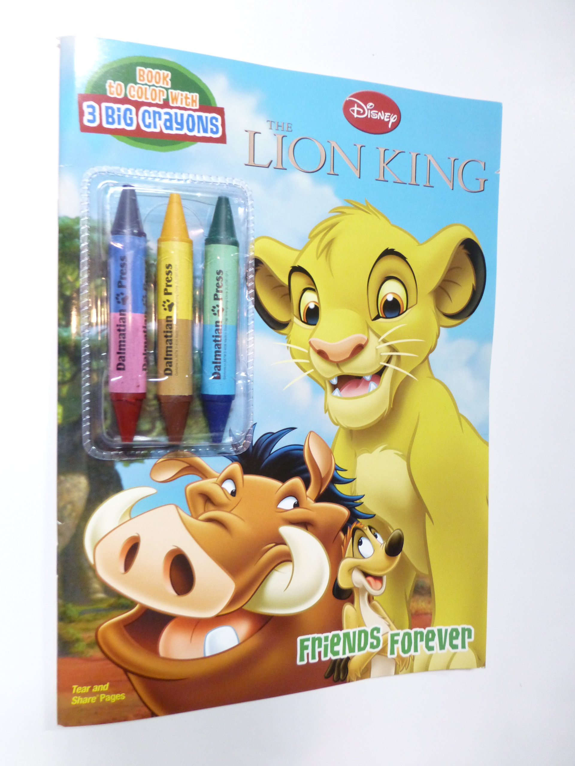Disney The Lion King Book To Color With Big Crayons Disney S Lion King Dalmatian Press 9781403764126 Amazon Com Books