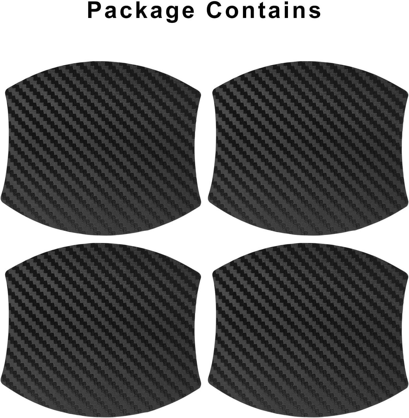 MLING 4pcs Voiture Poign/ée de Porte Insertion Magn/étique Couverture Anti Rayures Protecteur Compatible pour Tarraco