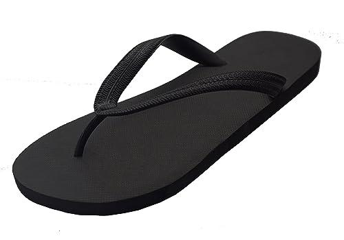 ee3fc38db2cc5 Feisco Women Rubber Flip Flops Thong Sandal Beach Slipper (6 M US