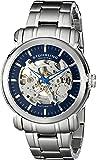 Stuhrling Original Men's 387.33116 Delphi Automatic Skeleton Blue Dial Stainless Steel Watch