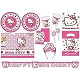 Procos 412275 - Kinderpartyset Hello Kitty Hearts, XXL