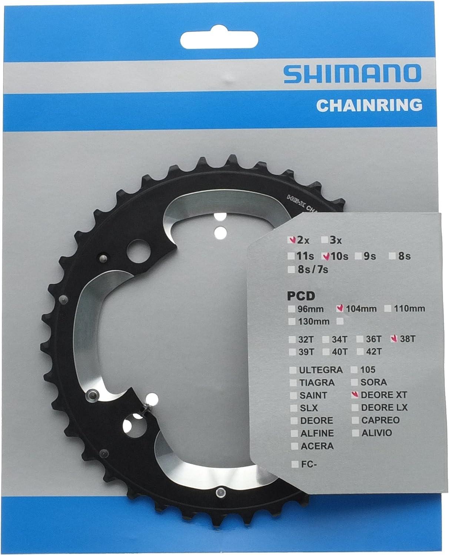 Shimano Kettenblatt Au/ßen XT M785 10-Fach 4-Loch 104 mm