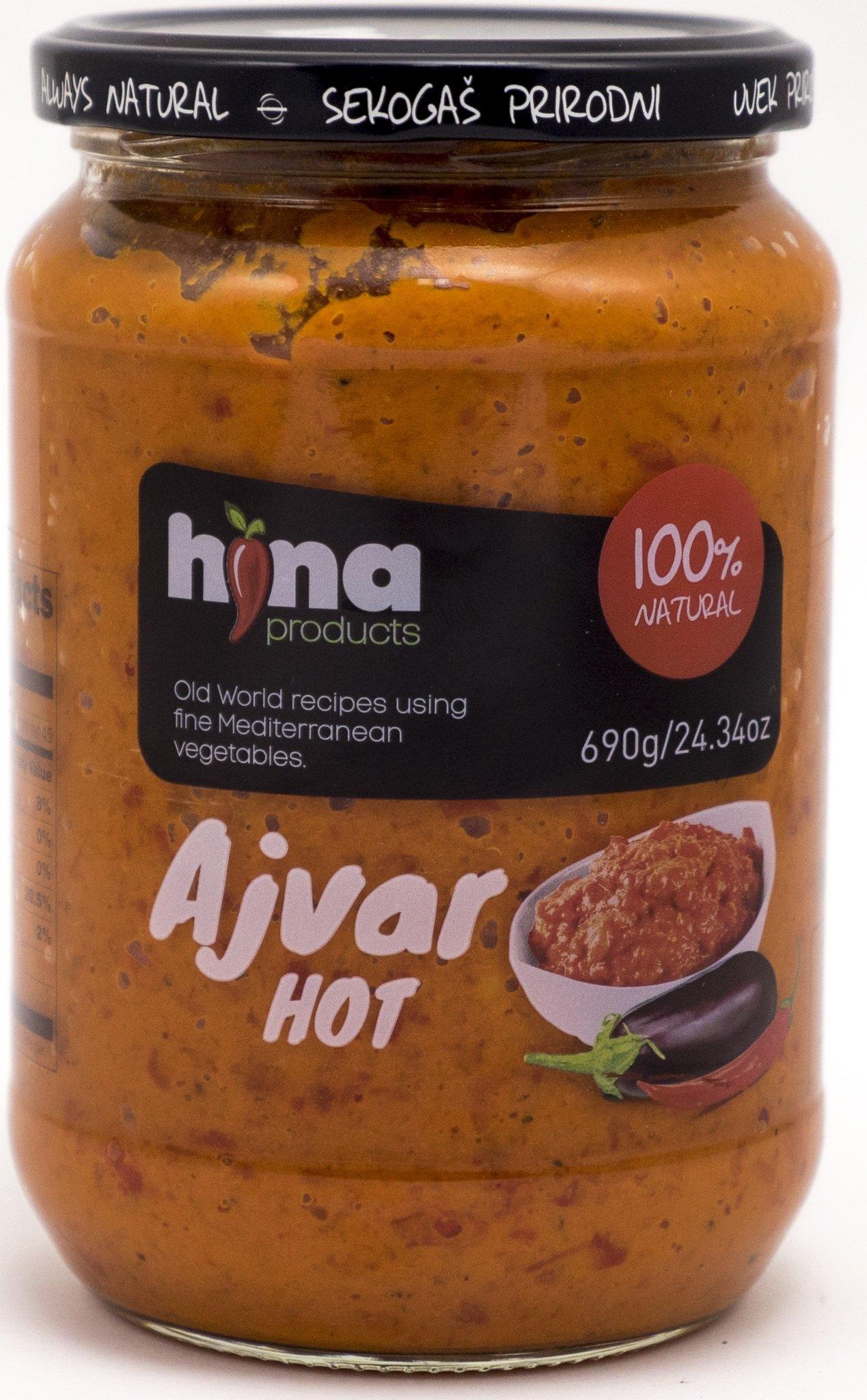 Hot Ajvar, Pack 4x690g, Hina Products