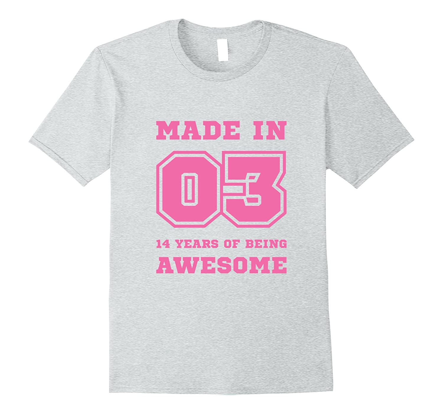 14th Birthday Shirt for Girls College Style Made in 2003-TH