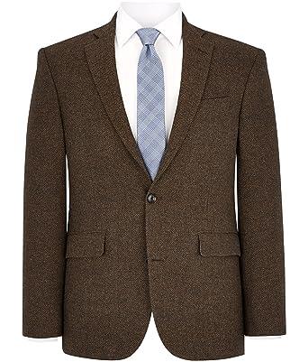 giacca da completo uomo marrone
