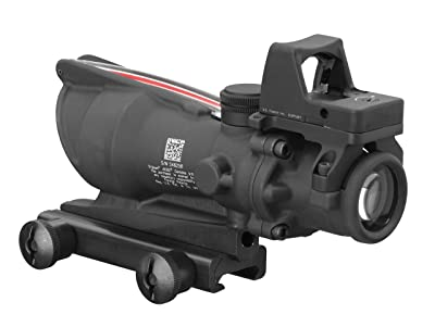 rijicon TA31RMR ACOG 4x32 Scope, Dual Illuminated Red Crosshair .223 Ballistic Reticle