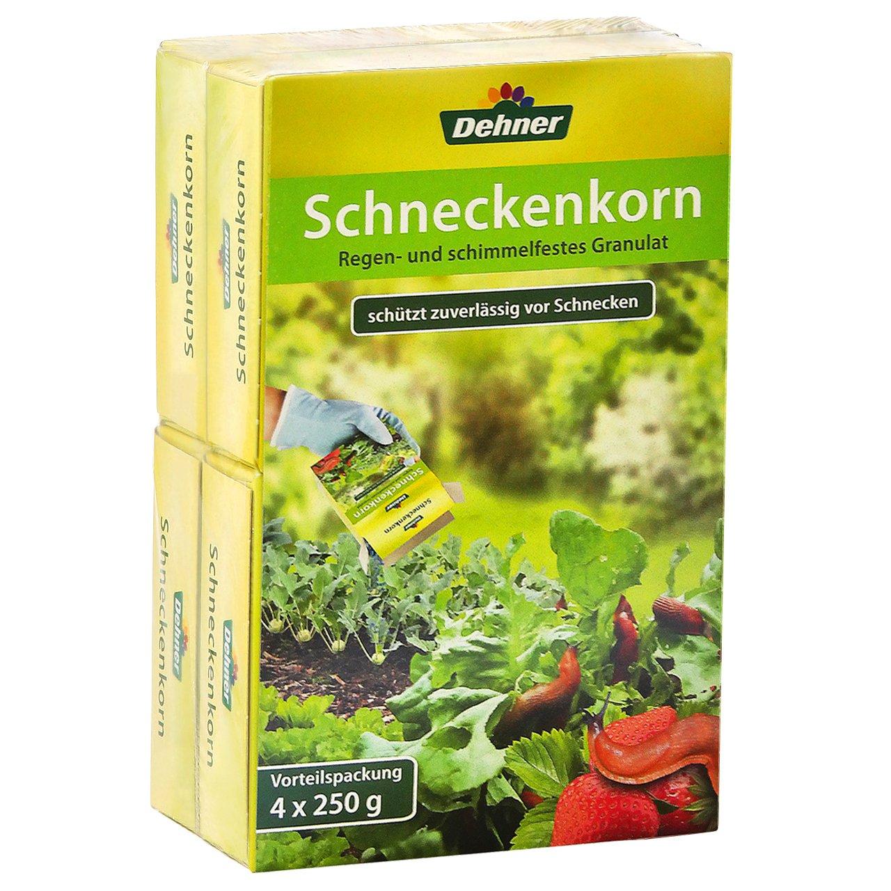 Dehner Schneckenkorn, 4 x 250 g (1 kg), für ca. 1,600 qm für ca. 1 133223