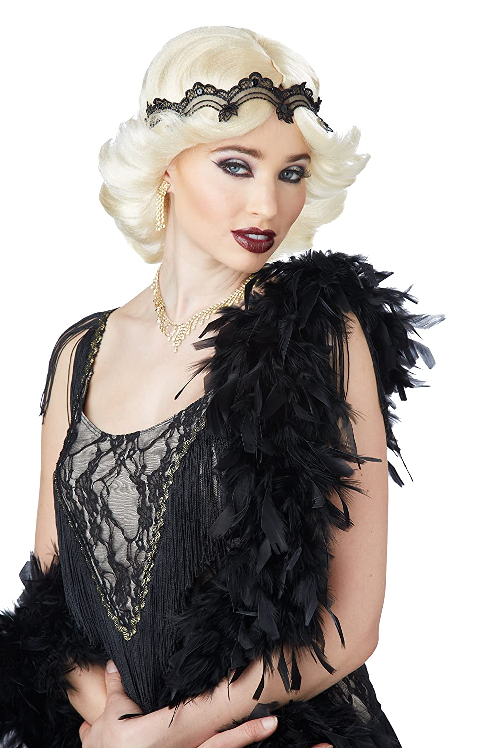 California Costumes Women's Blonde 20s Glitz and Glamour Wig and Headband One Size 70740