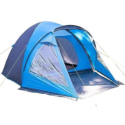 SKANDIKA Drammen 5 Tente dôme avec avancée 5 personnes 400 x 310 cm Bleu