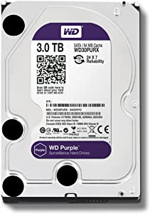 Western Digital Purple 3TB Surveillance Hard Disk Drive - 5400 RPM Class SATA 6 Gb/s 64MB Cache 3.5 Inch - WD30PURX [Old Version]