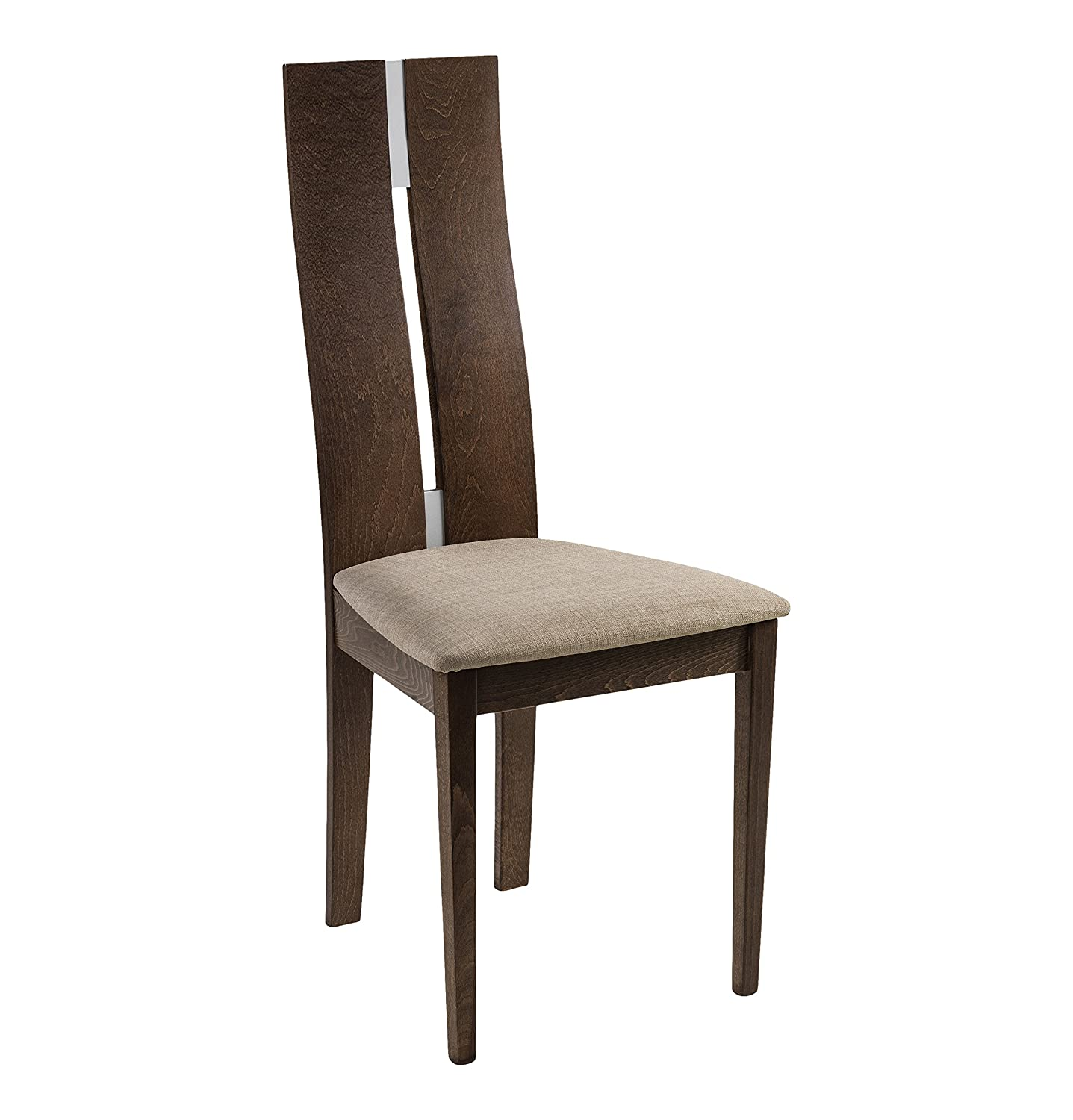 Julian Bowen Cayman Dining Chair Walnut Finish Set of 2 Amazon