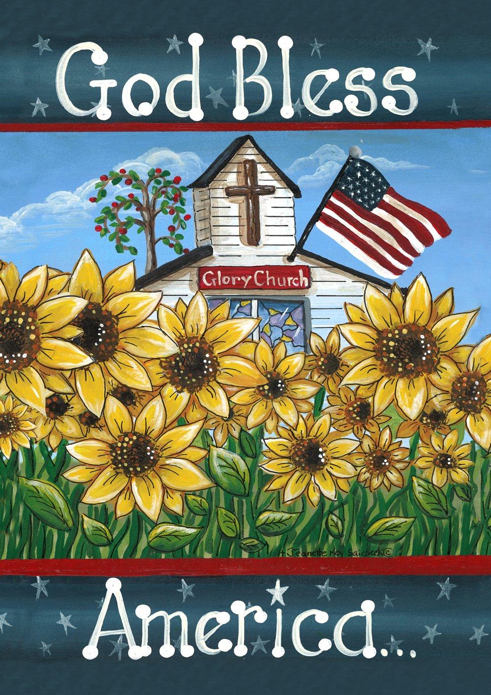 "Toland Home Garden 112133 Glory Church 12.5 x 18 Inch Decorative, Double Sided Garden Flag-12.5"" x 18"","