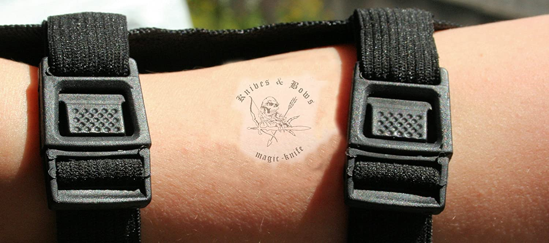Huntingdoor Armschutz Langarmschutz Leder Schie/ßen Bogenschie/ßen Arm Schutz