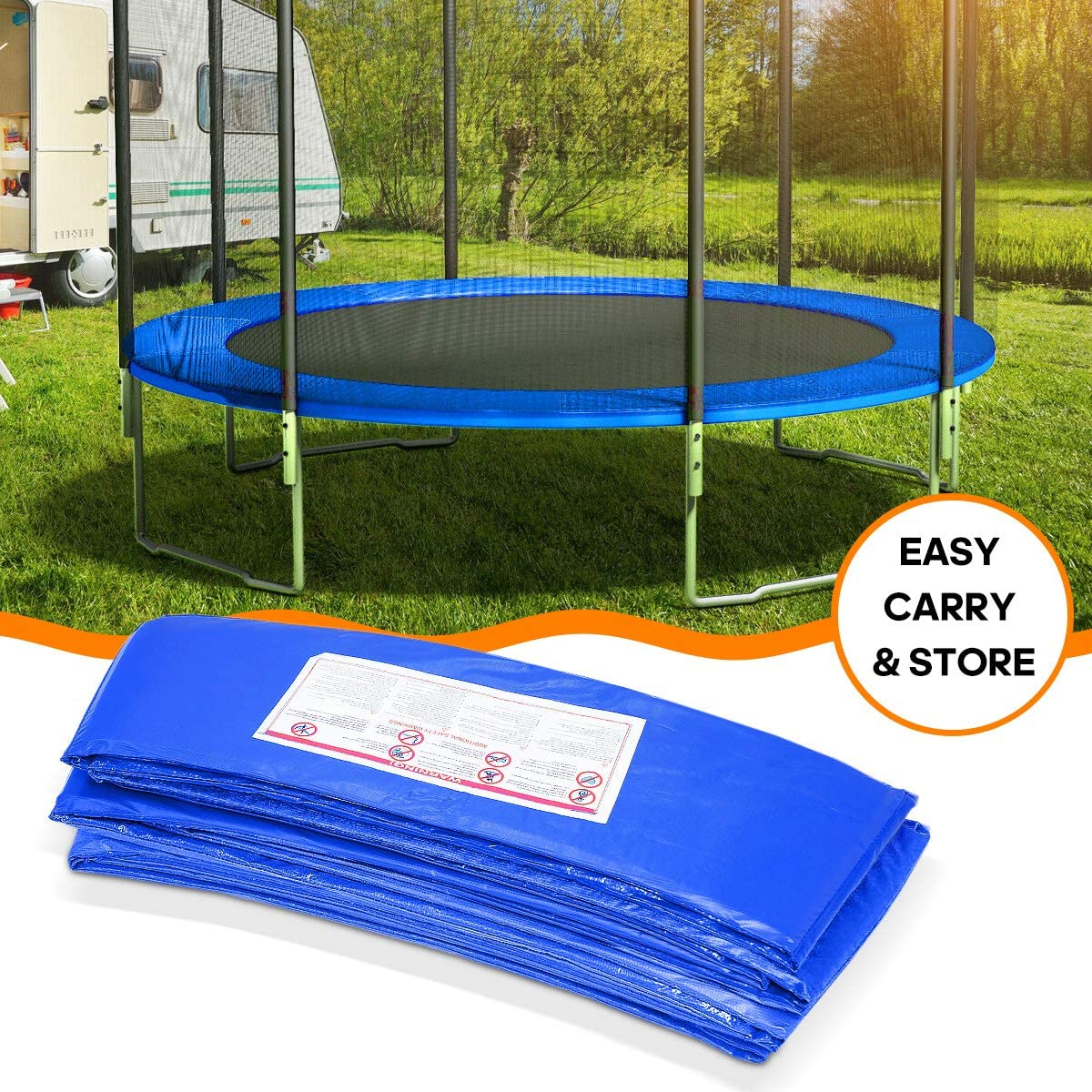 Jumpking Trampoline Pad Replacement Safety Pad 1INCH 12//14//15FT Trampoline Pad PVC Foam Waterproof Round Spring Cover/…