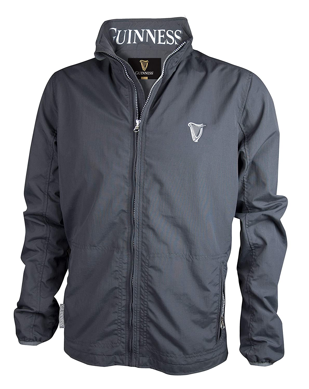 Guinness Grey Polyester Wind Breaker Jacket