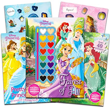 Amazon.com: Disney Princess Coloring Book Super Set -- 3 Disney ...