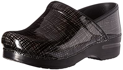 e7bcf369ac2c Dansko Women s Wide Pro Silver Black Crisscross Leather Clog - 36 M EU   5.5