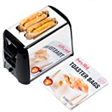 Toaster Bags (set of 3)   Grilled Cheese Made Easy   Non Stick Reusable Easy to Clean   Gluten Free Sandwich Toast