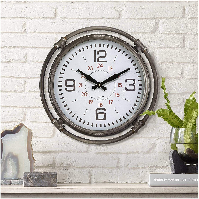 Amazon Com River Parks Studio Marco 18 3 4 High Metal Wall Clock Home Kitchen
