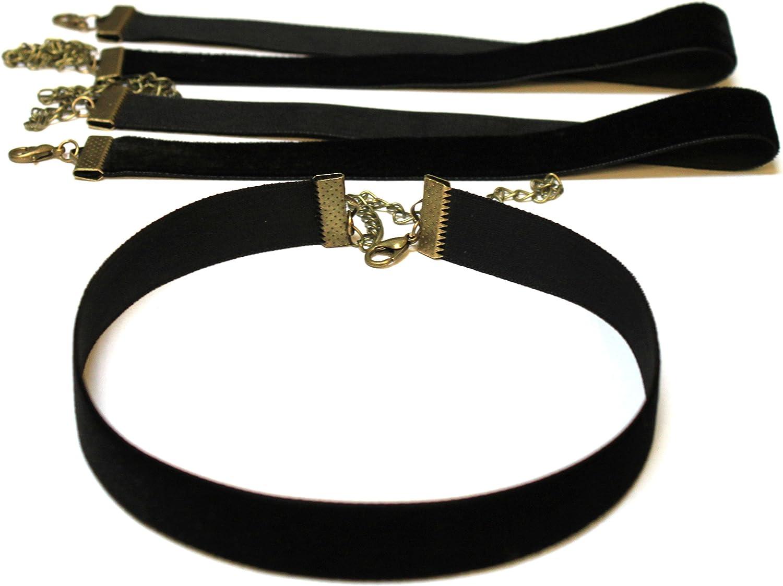Classic Plain Black Velvet Choker Necklace Handmade Premium Quality Velvet 10mm