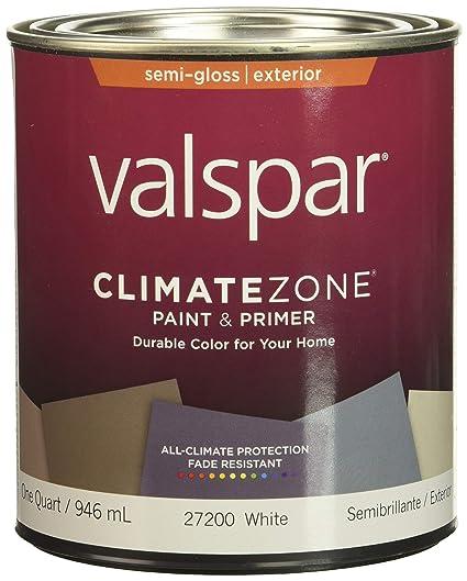 Valspar 44-27200 QT White Climate Zone Exterior Latex House