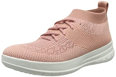 e80e9d38e901 FitFlop Women s Uberknit Slip-On High Top Sneakers Dusky Pink Metallic 5