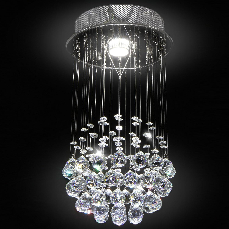 awesome jago lustre plafonnier en cristal x cm x h lampe de plafond gu w amazonfr cuisine u. Black Bedroom Furniture Sets. Home Design Ideas
