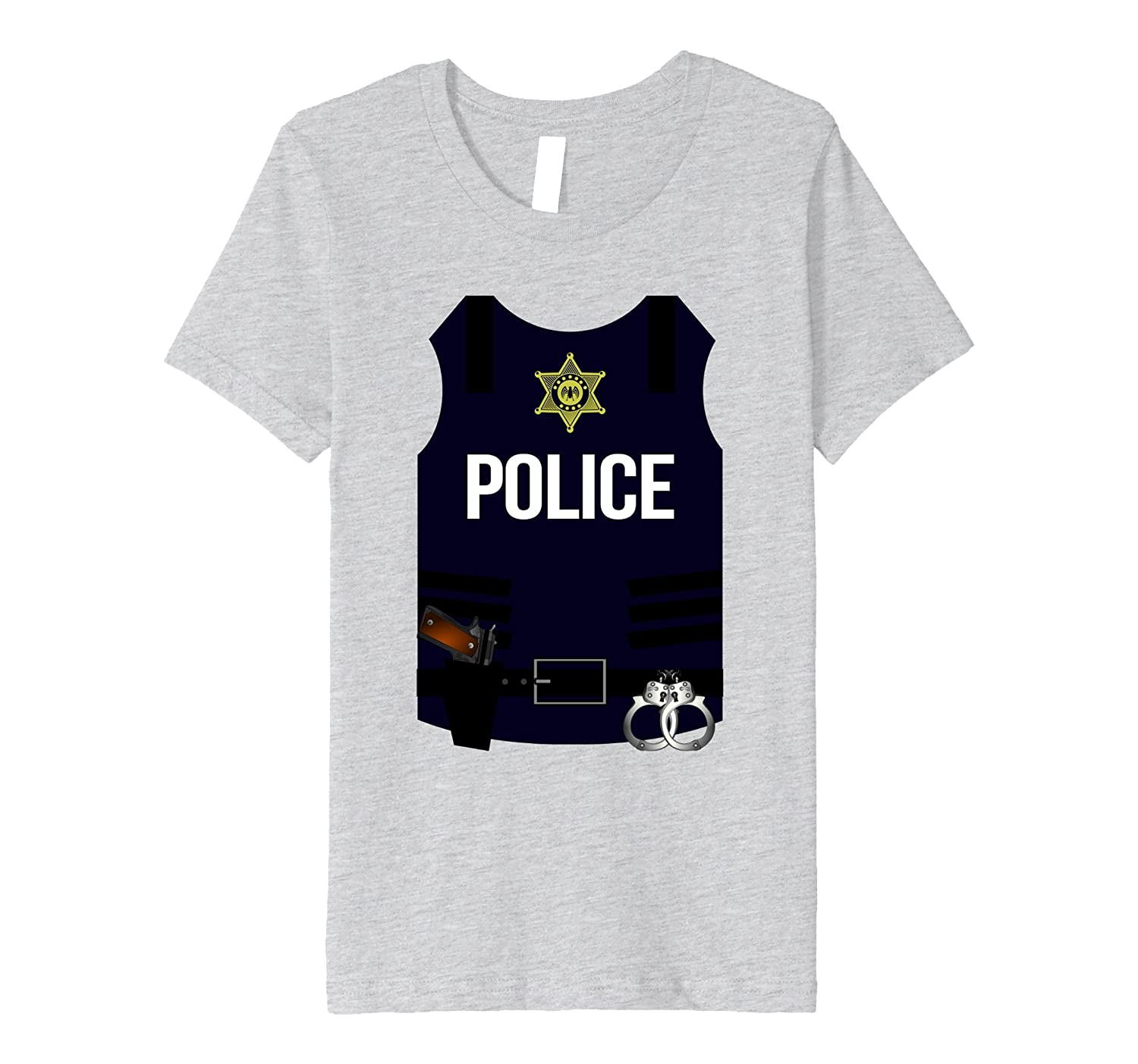 Police Vest Halloween Costume Shirt - SWAT Men Women Youth