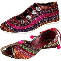 Ziaula Women Flat Ethnic Bellies and Shoes Combo Pack