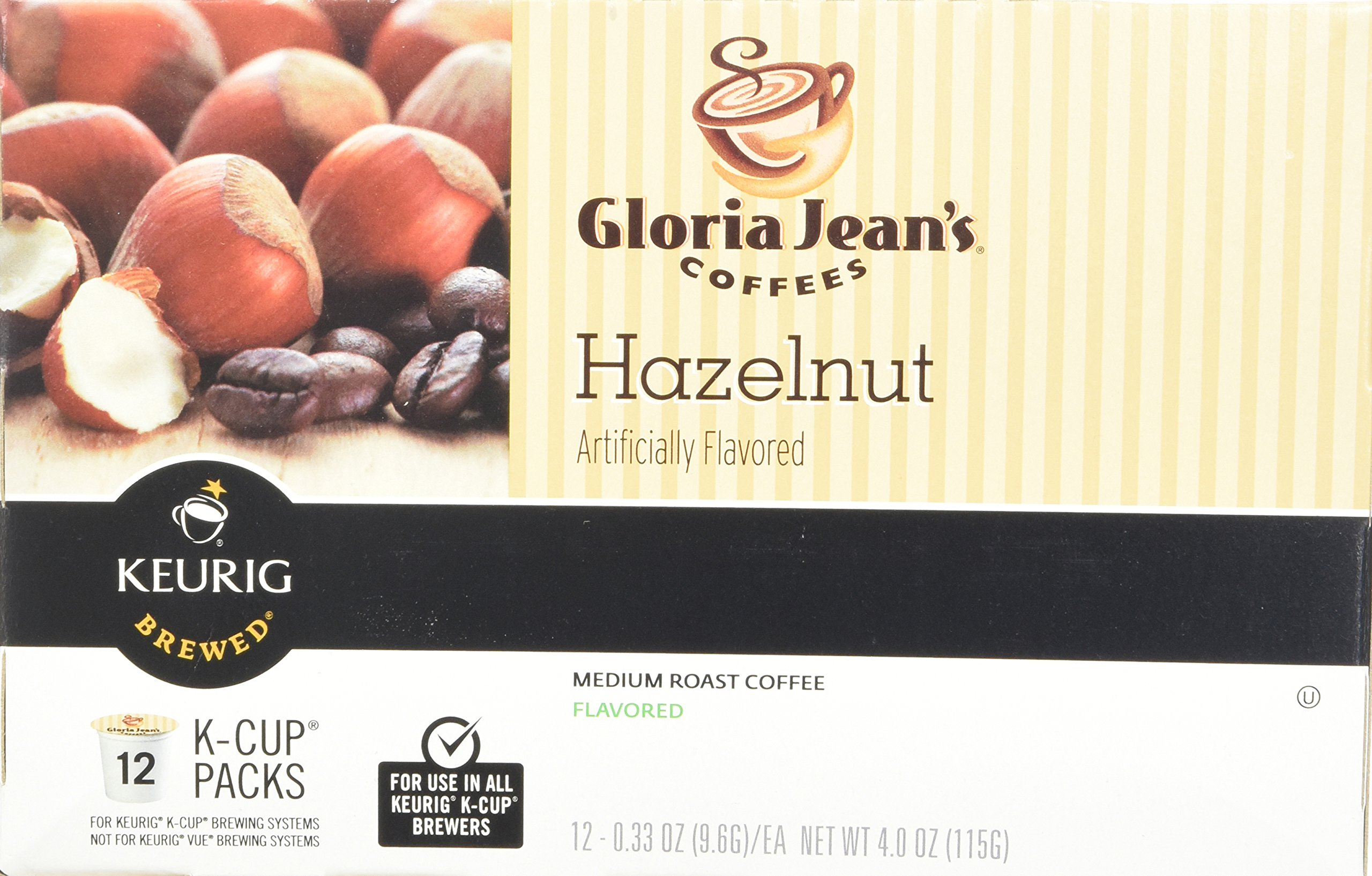 Green Mountain Coffee Roasters Gourmet Single Cup Coffee Hazelnut Gloria Jean's Coffee 12 K-Cups by Green Mountain Coffee Roasters (Image #4)