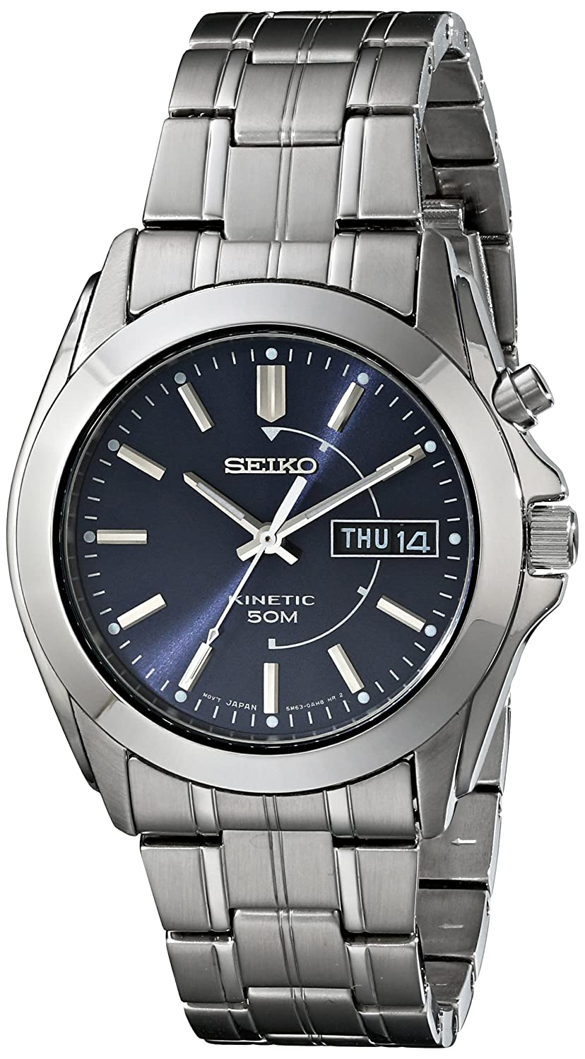 52ee070d8 Amazon.com: Seiko Men's SMY111 Stainless Steel Kinetic Watch: Seiko: Watches