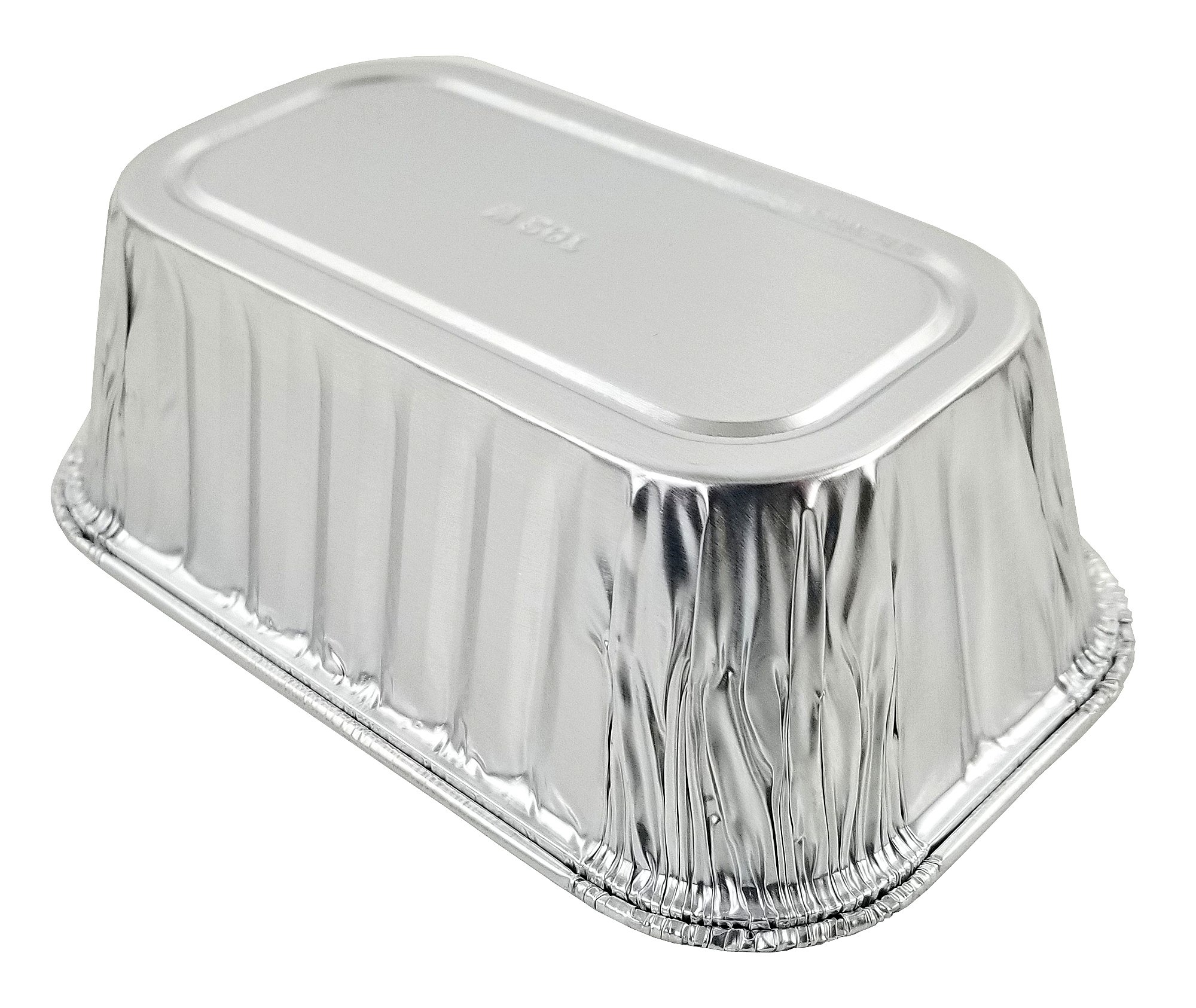 Pactogo Disposable 1 lb. Aluminum Foil Mini Loaf Pans with Clear Dome Lids (Pack of 100 Sets) by PACTOGO (Image #8)