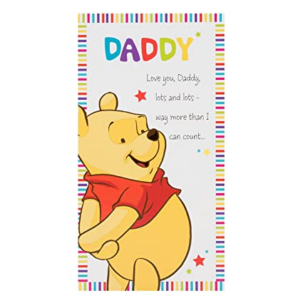 Amazon Disney Winnie The Pooh Daddy Birthday Card Office