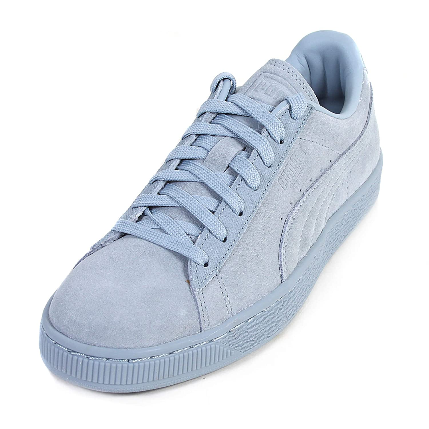 Puma Women's Suede Classic Tonal Lace Up Trainer Fog-Blue-3 Size 3
