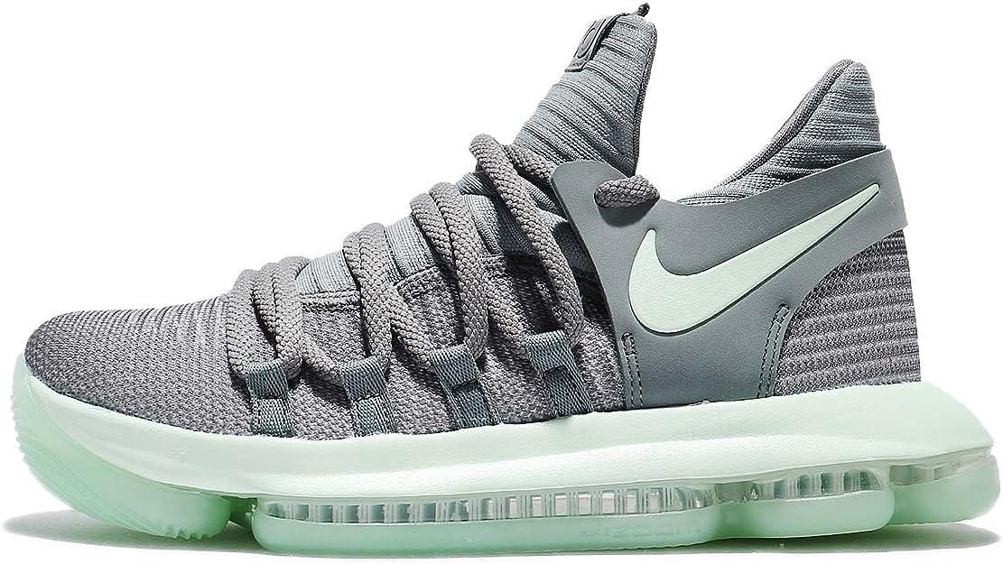 Amazon.com | Nike Zoom KD10 (GS) Big Kid's Basketball Shoes Cool Grey/Igloo-White  918365-002 (6Y M US) | Fashion Sneakers