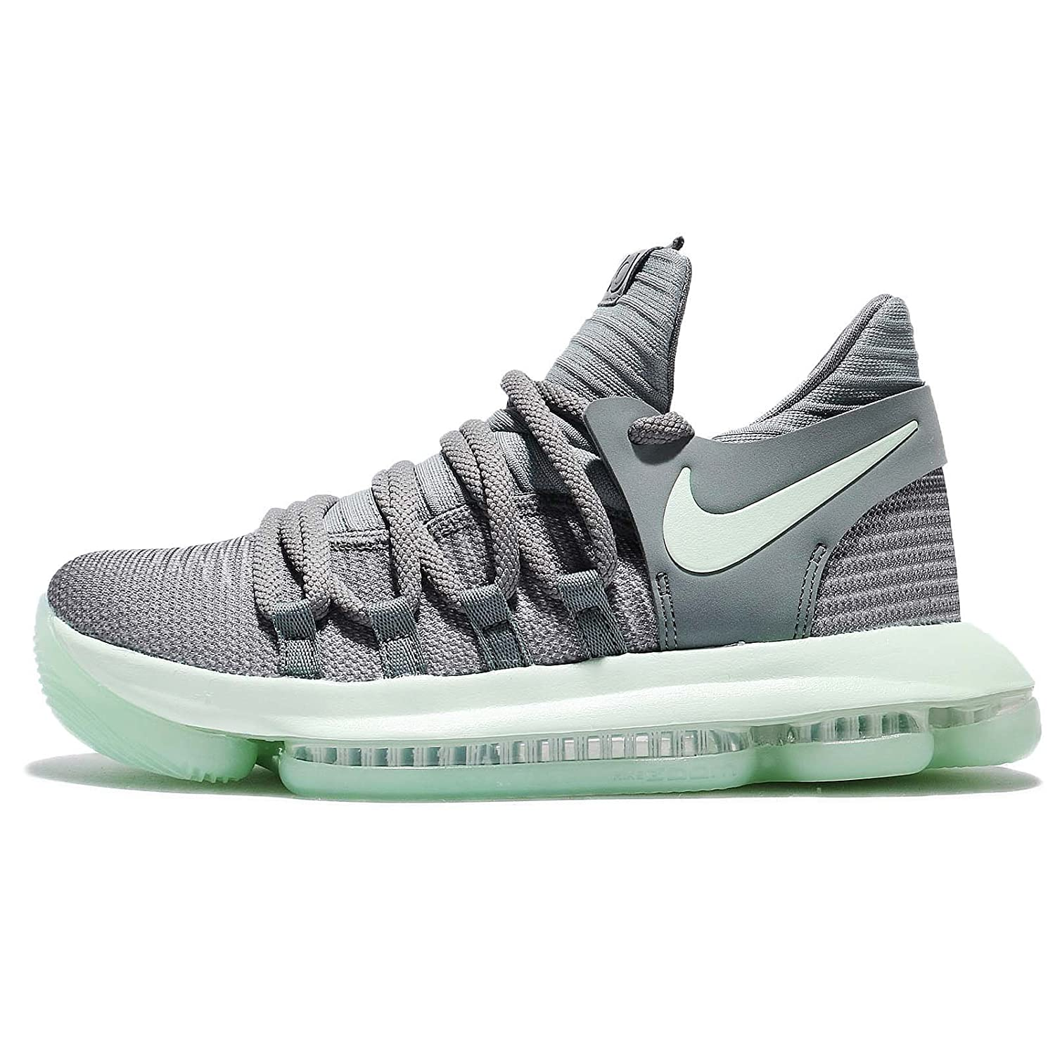 ef9470ebf61e Nike Zoom KD10 (GS) Big Kid s Basketball Shoes Cool Grey Igloo-White  918365-002 (6Y M US)  Buy Online at Low Prices in India - Amazon.in
