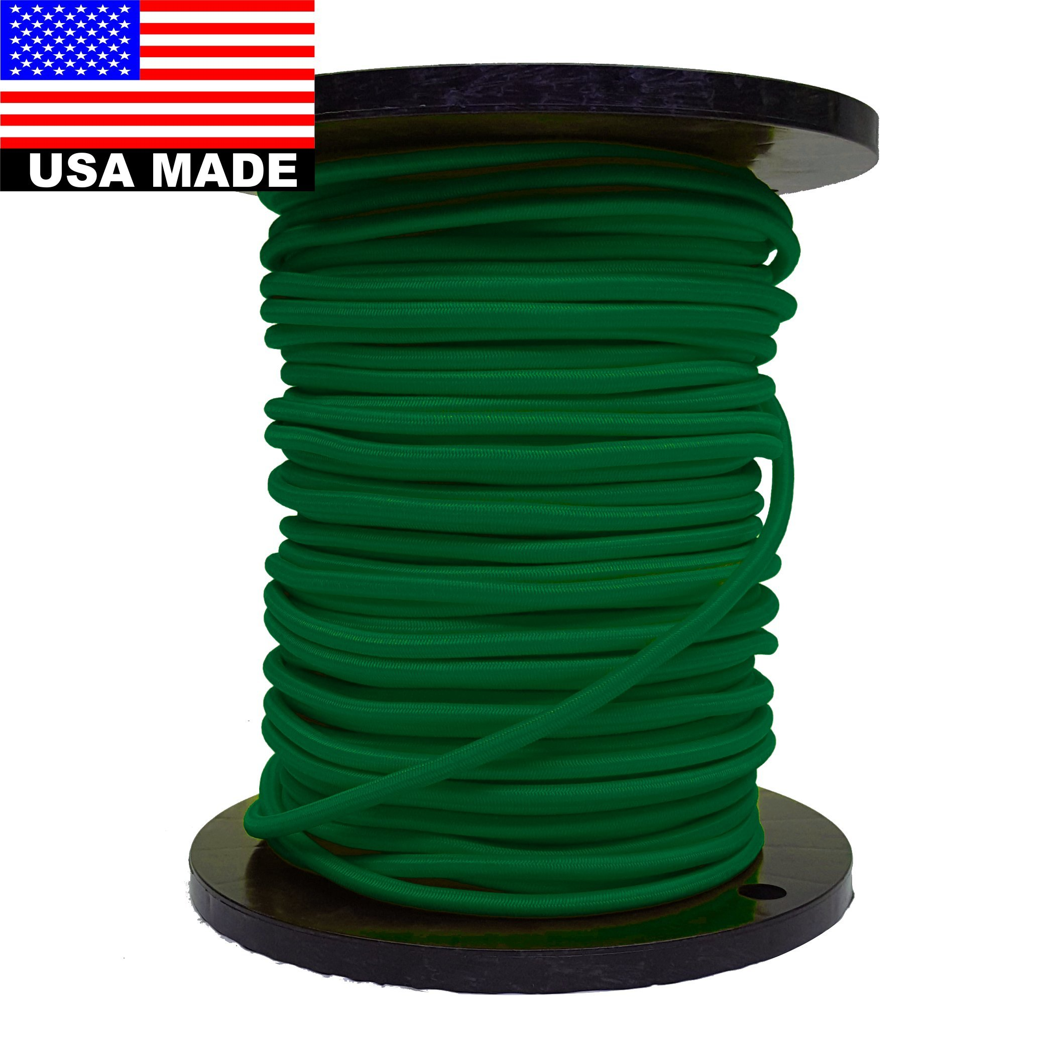 Bungee Cord 9mm (3/8'') - 328' Roll (Green)