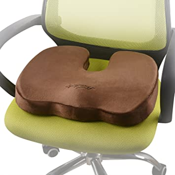 Warmtaste Memory Foam U Shaped Seat Cushion For Coccyx Orthopedic Back Pain  And Sciatica Relief