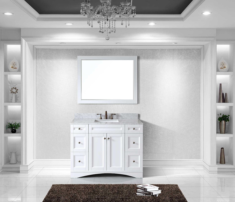 Virtu ES-32048-WMSQ-WH Elise Single Bathroom Vanity Cabinet Set, 48 ...