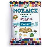 Mozaics Organic Popped Veggie & Potato Chips, 0.75oz Snack Bags (Sea Salt, 12-pack)