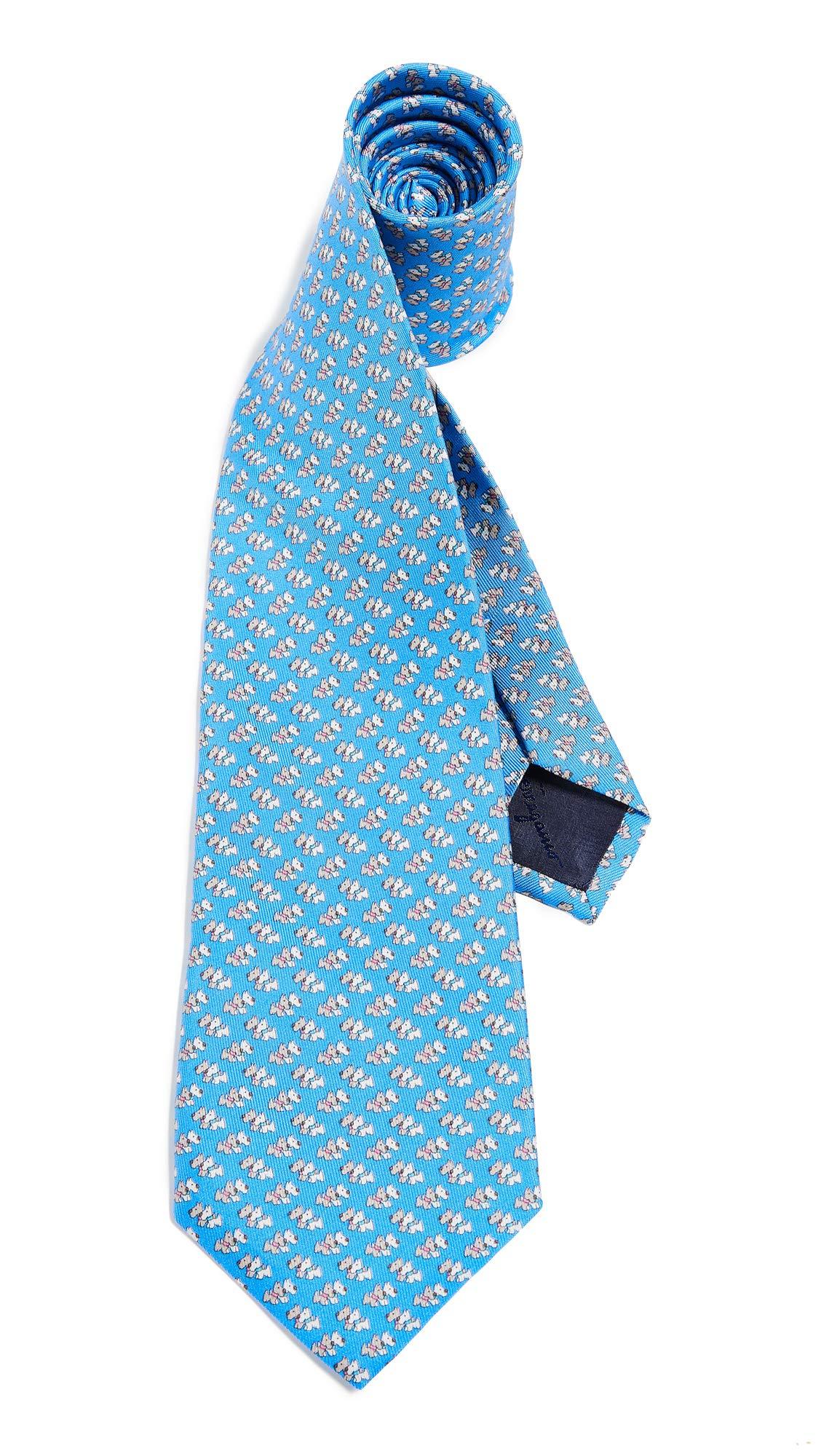 Salvatore Ferragamo Men's Dog Tie, Blue, One Size