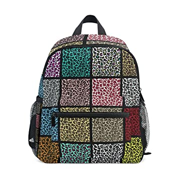 COOSUN Conjunto de Patrones de Leopardo Mini Mochila Niños Kinder Pre-Escolar del niño Bolsa: Amazon.es: Equipaje