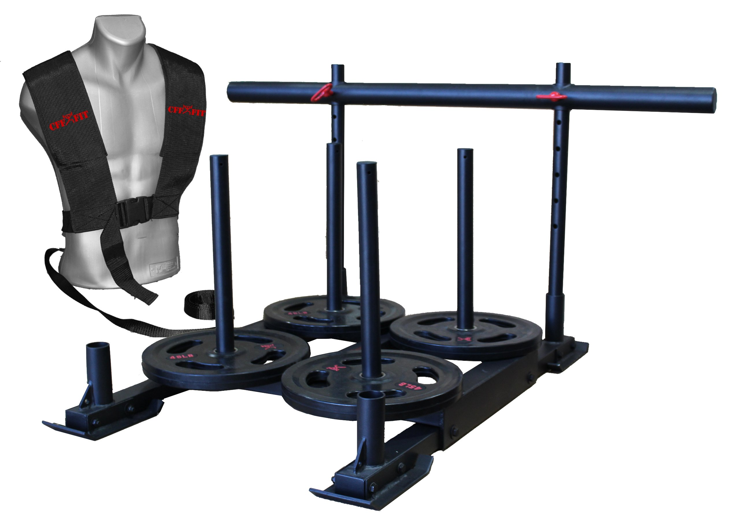"CFF ""Alaskan"" Weighted Push, Pull Team Sled - Great for Cross Training, MMA, Boxing, Personal Training, Bootcamp by CFF (Image #4)"